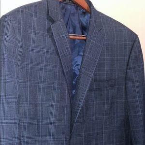 Chaps Blue Plaid Blazer (50R)